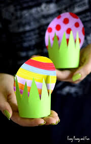 paper easter eggs paper easter egg craft idea easy peasy and