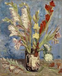 vincent van gogh gallery bestofpainting 1886 vase with gladioli and china