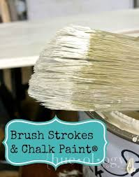reducing brushing strokes with chalk paint painted furniture