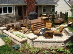Decks And Patios Designs by Deck And Patio Design With Built In Fire Pit In Hawthorn Woods Il