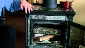 how to start a fire in your wood stove youtube