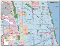 chicago zip code map chicago digital vector maps editable illustrator pdf