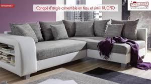 canape d angles convertible canapé d angle convertible en tissu et simili kuopio