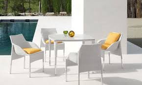 modern outdoor table and chairs outstanding habana 7 piece outdoor dining set contemporary in modern
