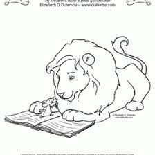 library lion coloring kids drawing coloring pages