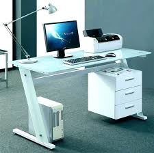Small Glass Desks Acrylic Home Office Desks For Your Interior Design Small Glass