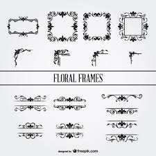 floral ornament frames set vector free vector in ai