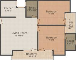 900 sq ft 2 bhk 2t apartment for sale in shri balaji construction