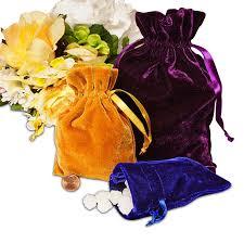 shrink wrap bags with pull bows flocked velvet pull bows