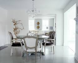 gemma comas white dining room louis xvi brown leather chairs round