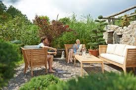 Garten Loungemobel Anthrazit Gartenmöbel Lounge Möbel Set Acamp Aurora 4tlg Teak Bei