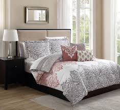 10 piece sula coral taupe ivory reversible bed in a bag set