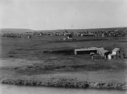 cityscape calgary s hidden heritage a window into the past calgary from the bow river 1885 image via library and archives canada