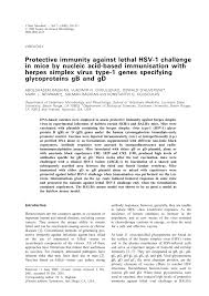 Challenge Herpes Microbiology Society Journals Protective Immunity Against Lethal