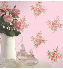 imagenes de rosas vintage papel pintado rosas vintage y románticas fondo rosa con topitos 41000