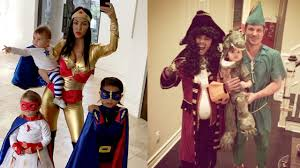 Neil Patrick Harris Family Halloween Costumes by Celebrities Hilary Duff Chris Hemsworth In Trouble Over Offensive