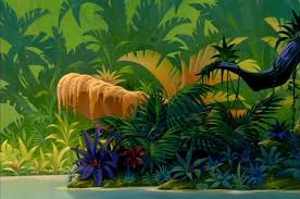 jungle backdrop jungle back drop disney crossover empty backdrop from the lion