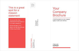 tri fold brochure template word best template examples