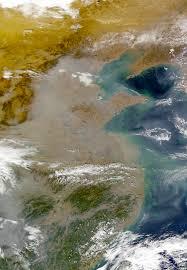 nasa visible earth eastern china pollution