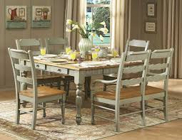 Seafoam Green Chair by Hand Distressed Seafoam Green Finish Dinette Table W Options