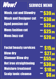 price list wow hairdresser taigum and strathpine