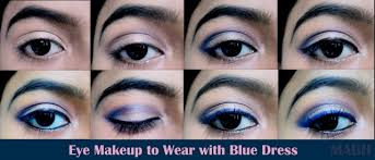 eye makeup to wear with blue photo tutorial makeup and