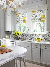 Gray And White Backsplash by Kitchen Cabinet Color Choices Kitchen Cabinet Styles Mosaic