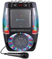 light up karaoke machine the singing machine agua dancing water fountain karaoke system