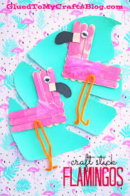 craft stick flamingo kid craft craft sticks flamingo and craft