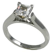princess cut cubic zirconia wedding sets solid 14k gold cz cubic zirconia 4 prong princess cut cathedral