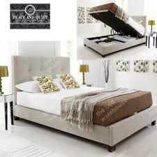 storage bench top super king size ottoman bed birlea isabella 6ft