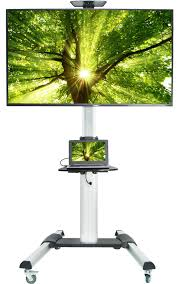 Green Tv by Stand Tv09 Vivo Ultra Heavy Duty Tv Cart For Flat Screen Panel