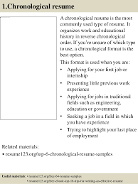 Chronological Order Resume Example by Resume Chronological Order Examples Contegri Com