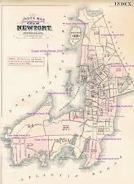 Map Rhode Island 1883 Atlas Of Newport Rhode Island