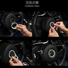 Vw Beetle Vase Accessories 1pc Luxury Crystal Car Steering Wheel Bling Decoration For