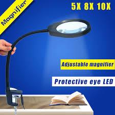 loupe de bureau mains libres mains libres loupe loupe avec la lumière polyvalent 2 en 1