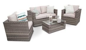 natural cappuccino rattan garden sofa furniture bahia modus set