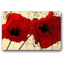 Poppy Kitchen Rug Fantastic Doormat Beautiful Poppy Flower Door