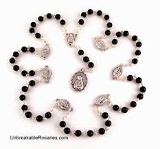 rosary of the seven sorrows rosary of the seven sorrows of in black onyx mater dolorosa