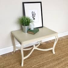 Cottage Sofa Table Small White End Table Country Cottage Furniture Side Sofa