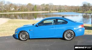 vwvortex com 2009 e92 m3 coupe in laguna seca blue