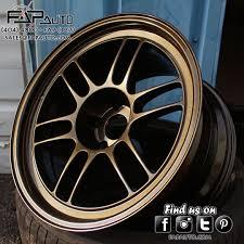 lexus wheels powder coated enkei rpf1s refinished in bronze we offer all our wheels in