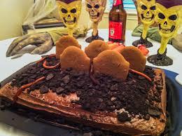 graveyard halloween cake cakes en mi casita