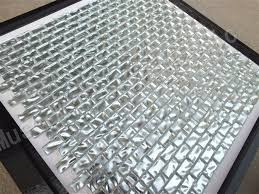 alcali cuisine résistance aux alcalis argent or en verre de tuile de mosaïque