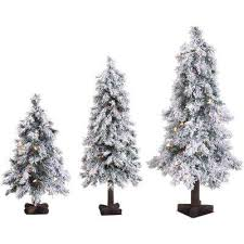 whites artificial trees trees the home depot