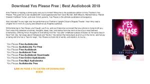 yes audiobook free