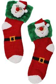 fuzzy christmas socks happy santa plush christmas socks ld
