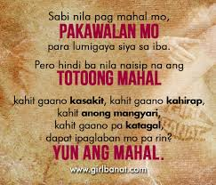 Wedding Quotes Tagalog Tagos Hanggang Buto Love Quotes Banat