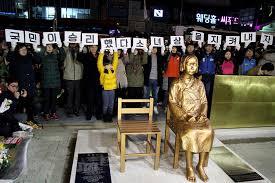 Japanese Comfort Women Stories Comfort Woman U0027 Statue Sparks Diplomatic Row Between Japan And