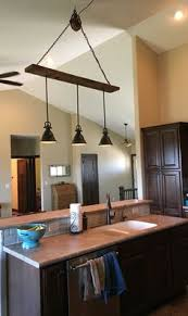 Kitchen Light Fixtures Ceiling Barn Wood Pulley Vaulted Ceiling Light Fixture Pendants Are From